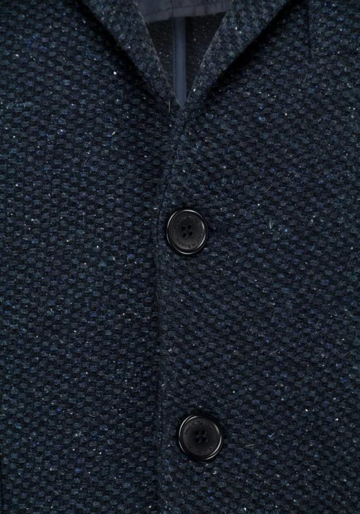Paul Miranda Coat Dark Blue Speckled