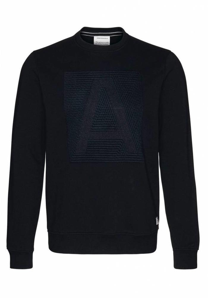 Armedangels Sweater Jay Letter Black