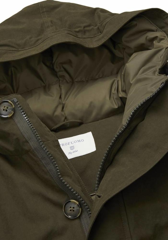 Profuomo Parka Down Jacket Army Green