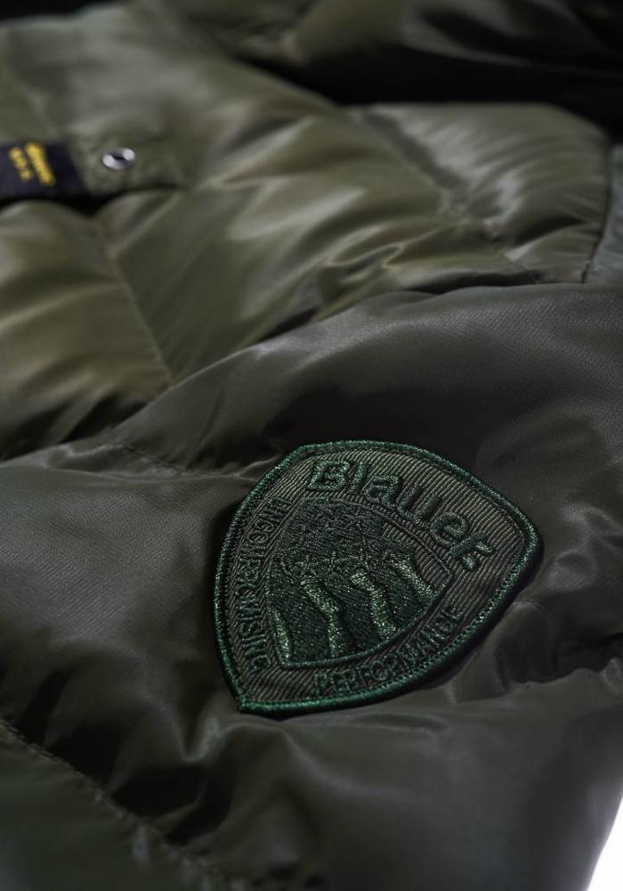 Blauer Antonio Micro Rip Winter Jacket Dark green