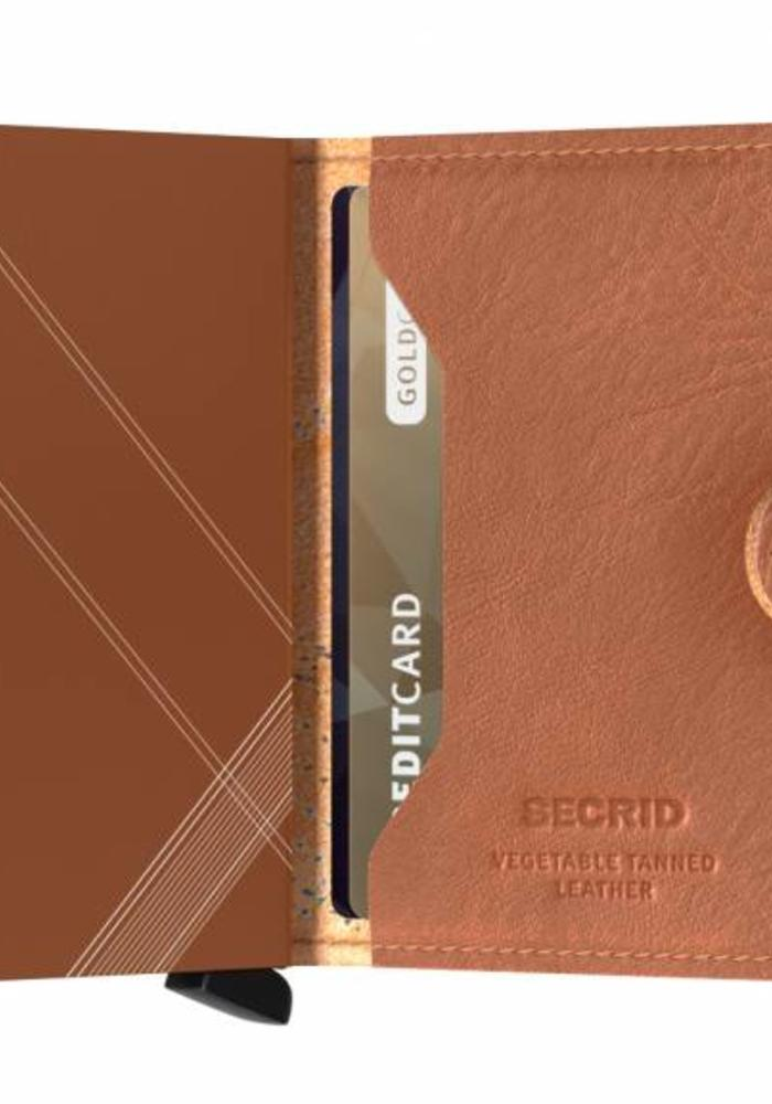 Secrid Miniwallet Stitch Linea Caramello