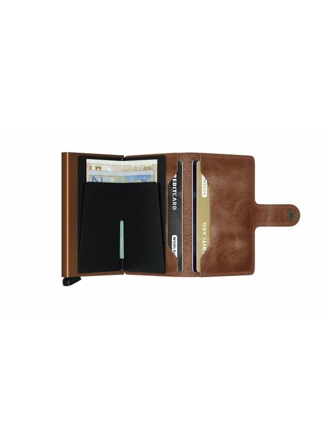 Secrid Miniwallet Vintage Cognac-Rust