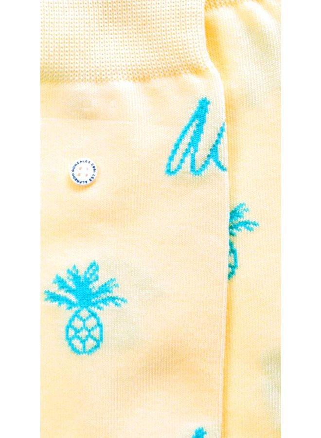 Alfredo Gonzales Sokken Pineapple Logo