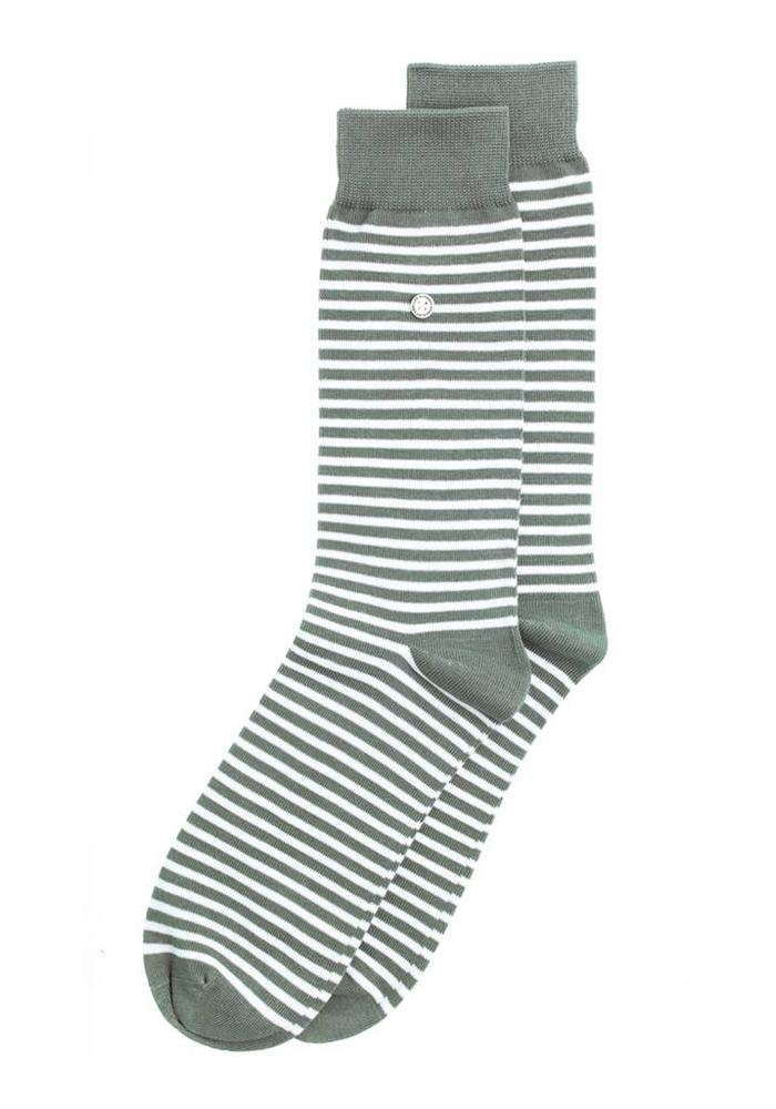 Alfredo Gonzales Socks Stripes Gray / White