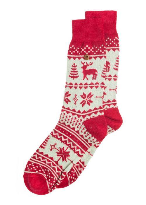 Alfredo Gonzales Alfredo Gonzales Socks Northern Pixels Reindeer
