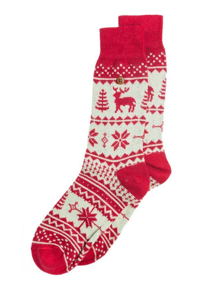 Alfredo Gonzales Socks Northern Pixels Reindeer