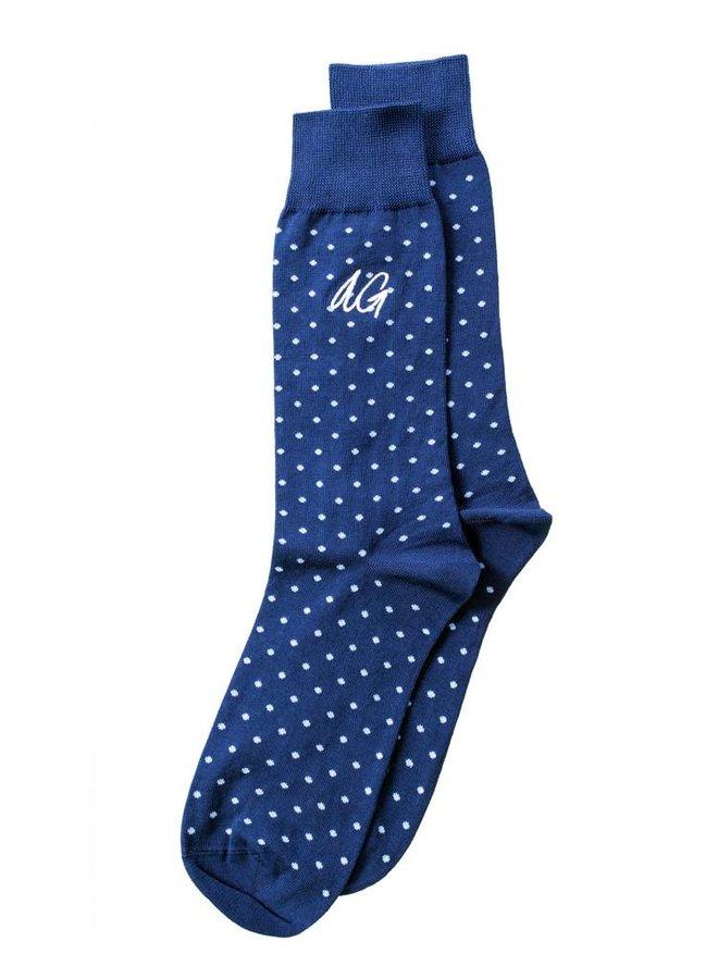 Alfredo Gonzales Socks Don Dots Navy