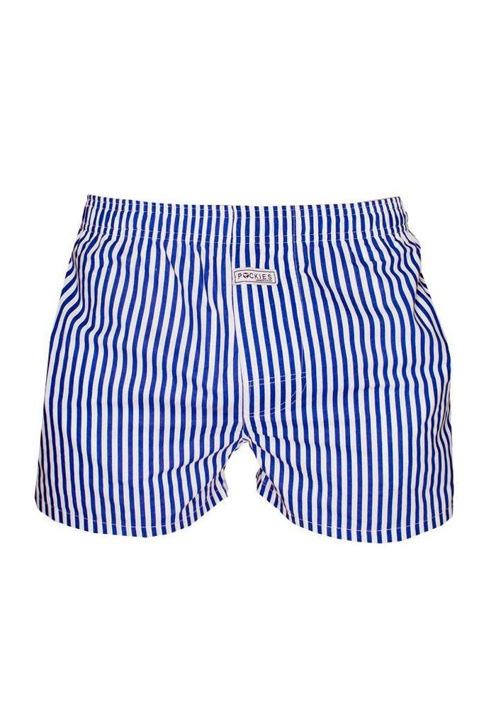Pockies Underwear Boxer Navy Stripes