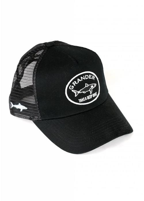 Grander Caps Grander Trucker Cap Take A Deep Dive Black