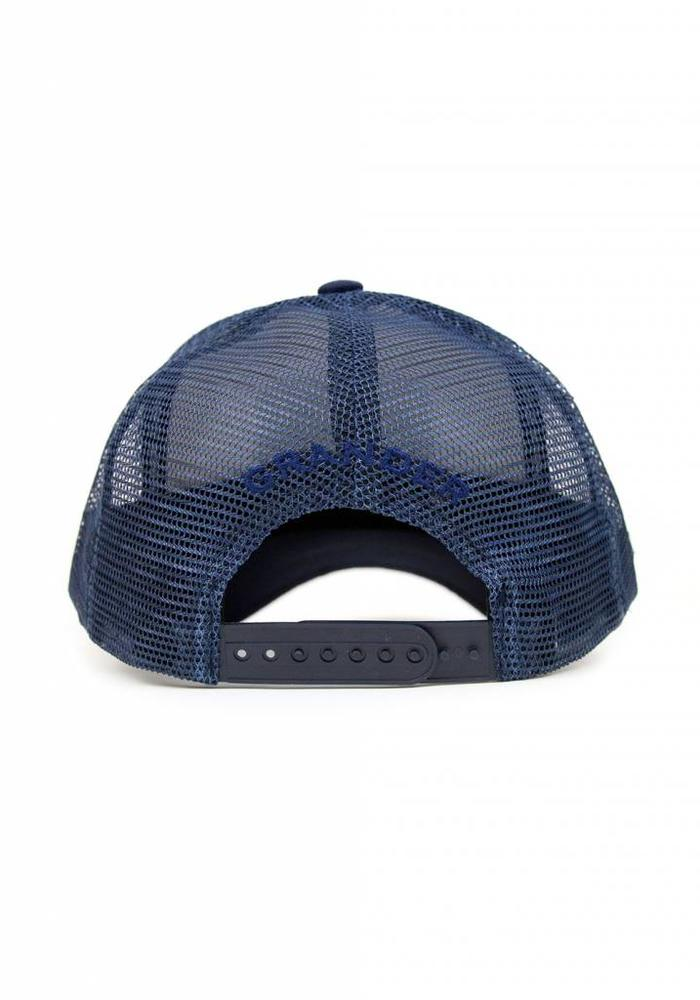 Grander Trucker Cap Take The Bait Navy