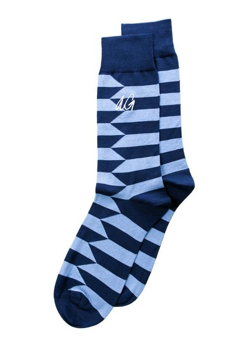 Alfredo Gonzales Alfredo Gonzales Socks Don Stripes Navy Blue