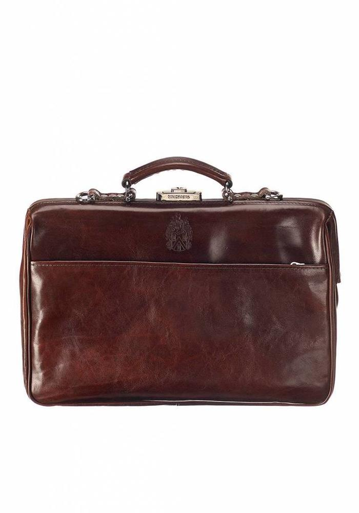 Mutsaers The Classic Leather Bag Dark Brown
