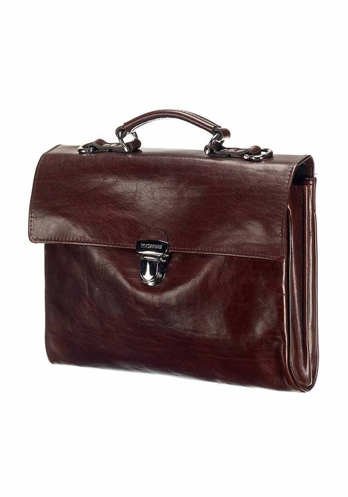 Mutsaers The Walker Leather Bag Dark brown