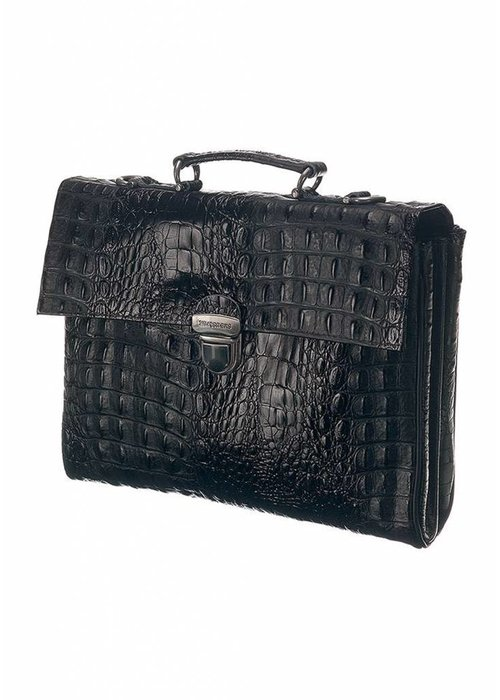 Mutsaers Mutsaers The Walker Tas Croco Zwart