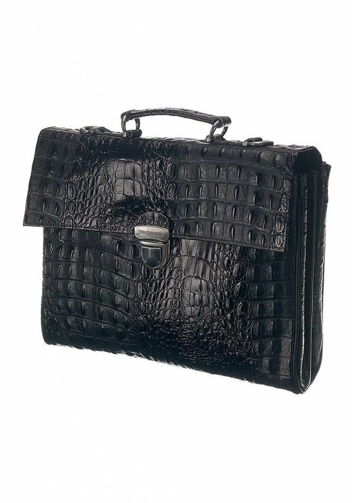 Mutsaers The Walker Tas Croco Zwart