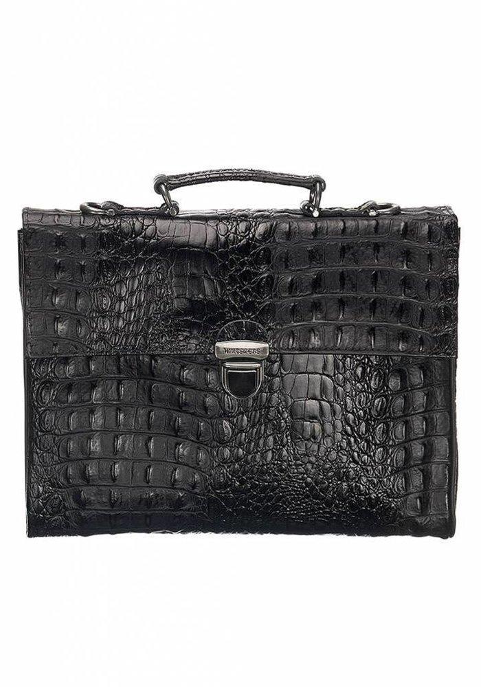 Mutsaers The Walker Bag Croco Black