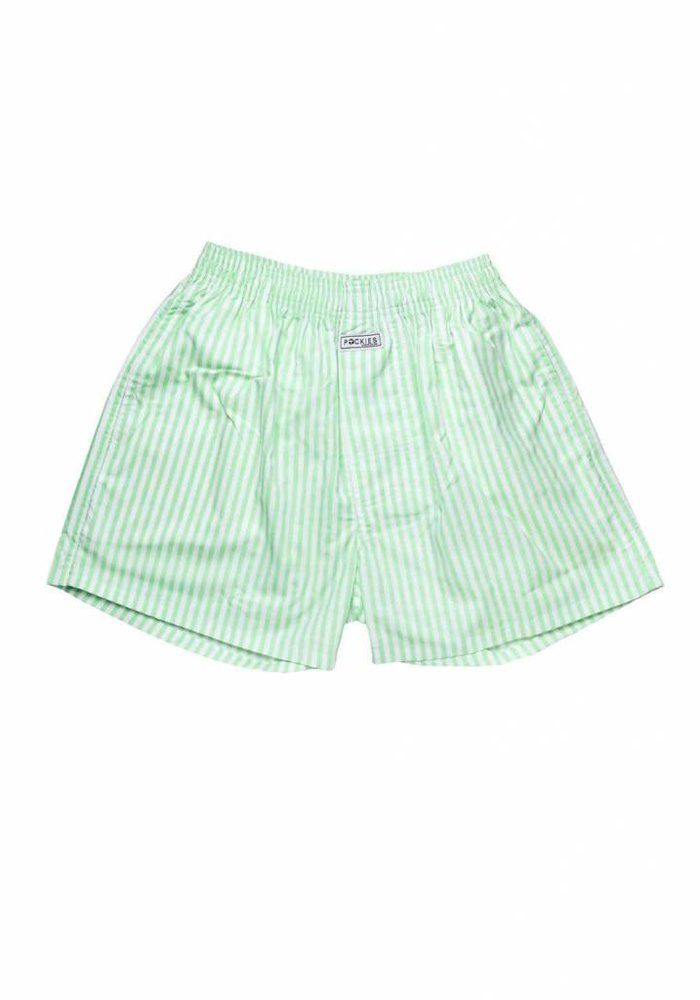 Pockies Underwear Boxer Mint Stripes