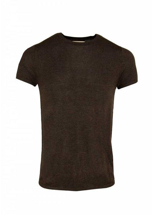 Bertoni Tore Knitted T-shirt Dark brown