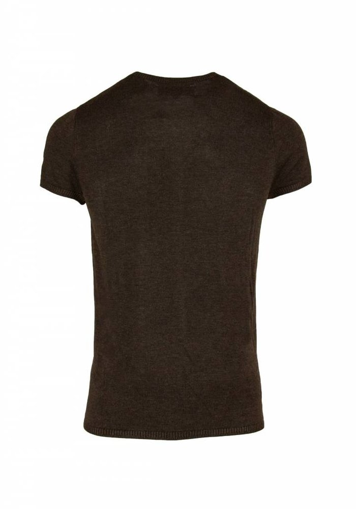 Bertoni Tore Knitted T-shirt Dark brown