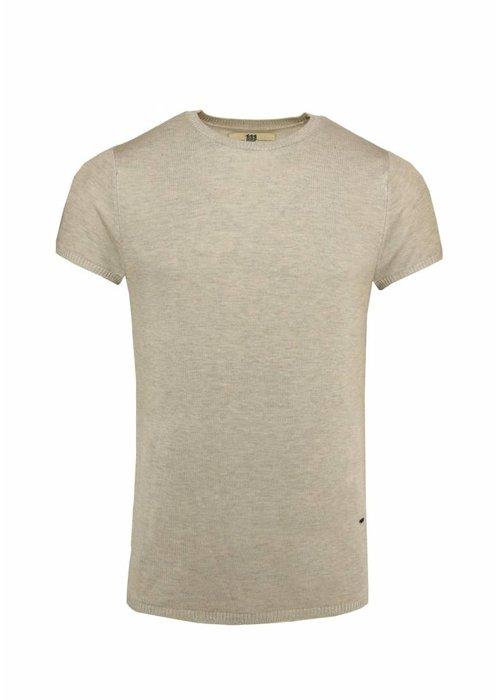 Bertoni Bertoni Tore Gebreid T-shirt Beige