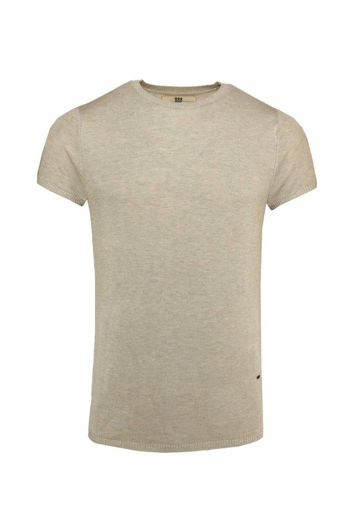 Bertoni Tore Knitted T-shirt Beige
