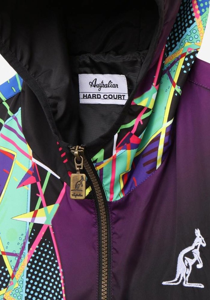 Australian Hard-Court Anorak Kaleido Smash Black Multicolor