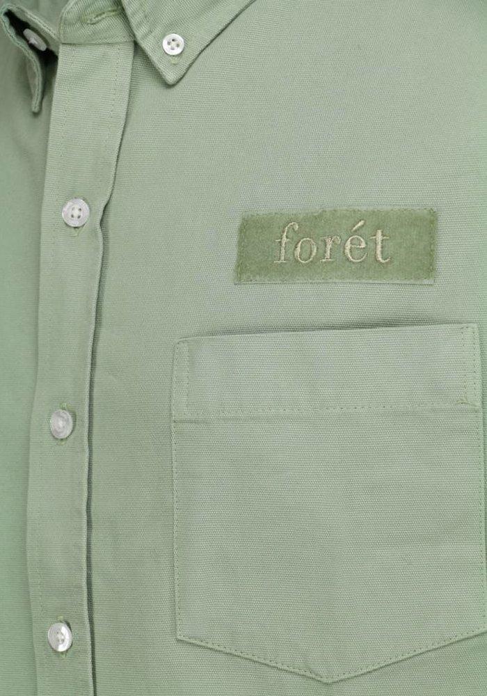 Forét Shirt Bear Canvas Sage Green