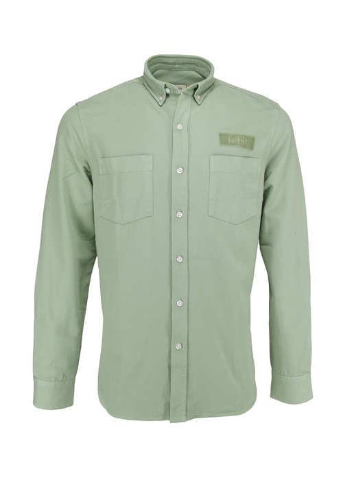 Forét Forét Bear Canvas Shirt Sage Green