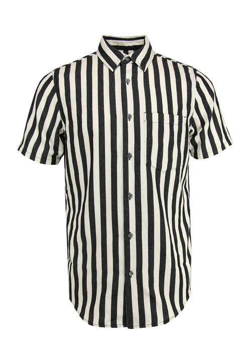 Neuw Neuw Work Stripe Shirt Ecru / Zwart