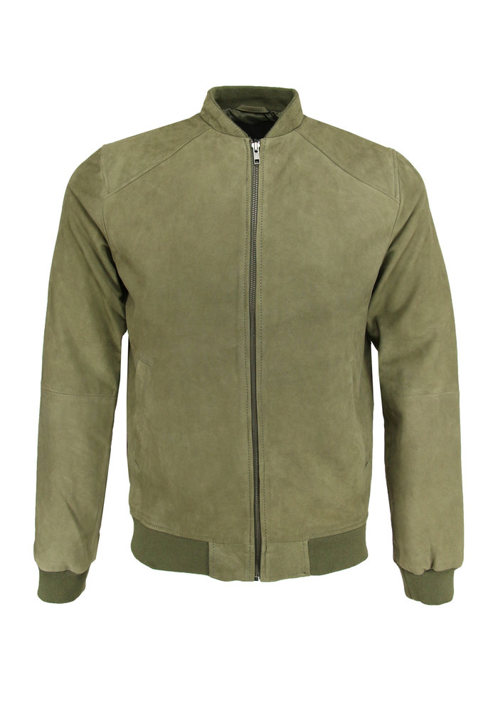 Bruun & Stengade Carlo Leather Jacket Green