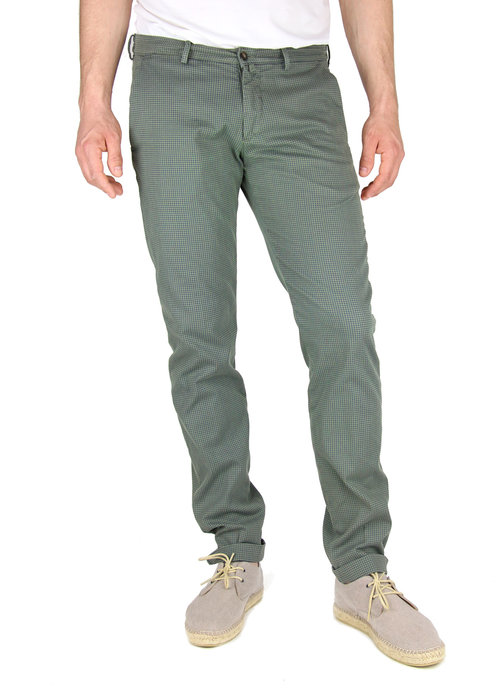 Four.Ten Industry Four.Ten Industry Chino T9080 Slim Groen/Navy