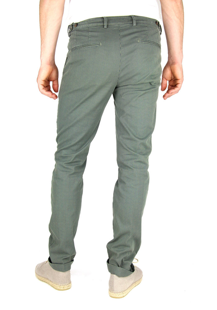 Four.Ten Industry Chino T9080 Slim-Fit Army Navy Checkered