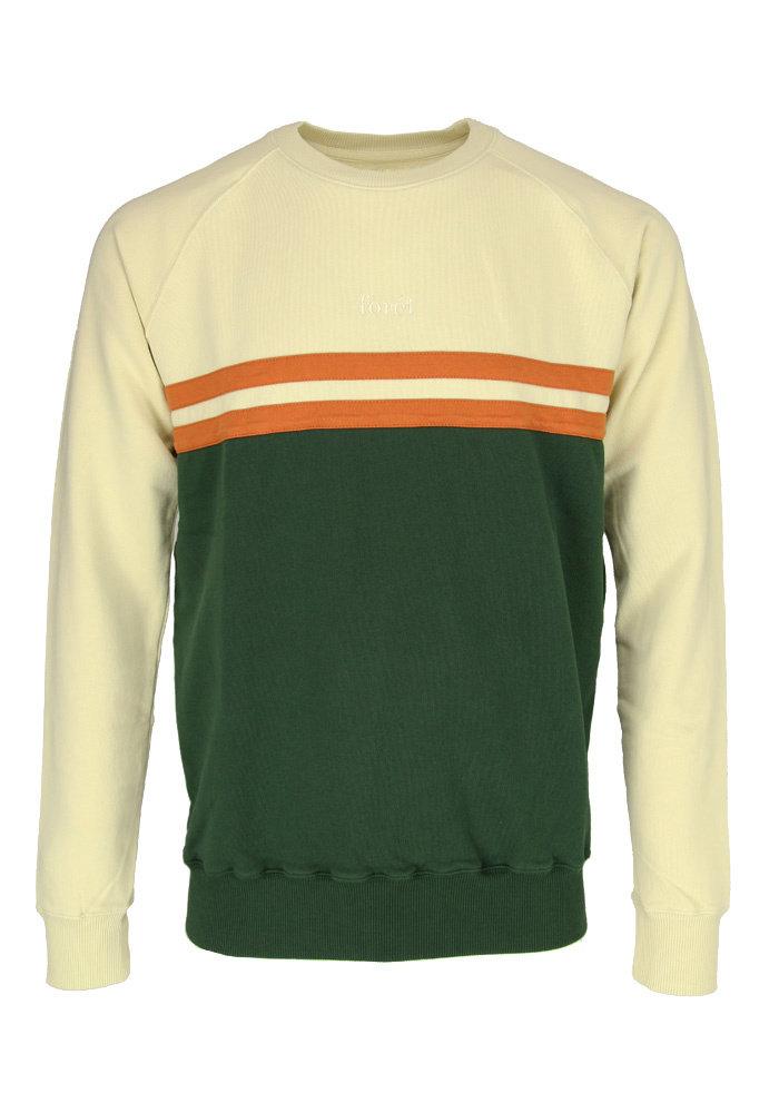 Forét Sweater Escape Dark Green Off-White