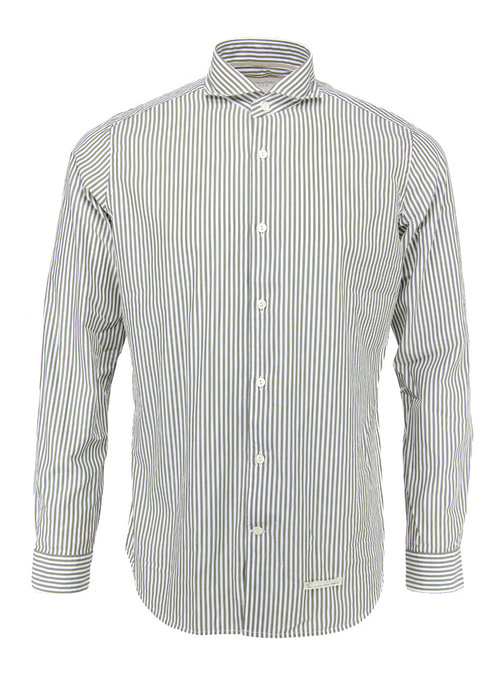 Tintoria Mattei Tintoria Mattei Shirt White Army Striped