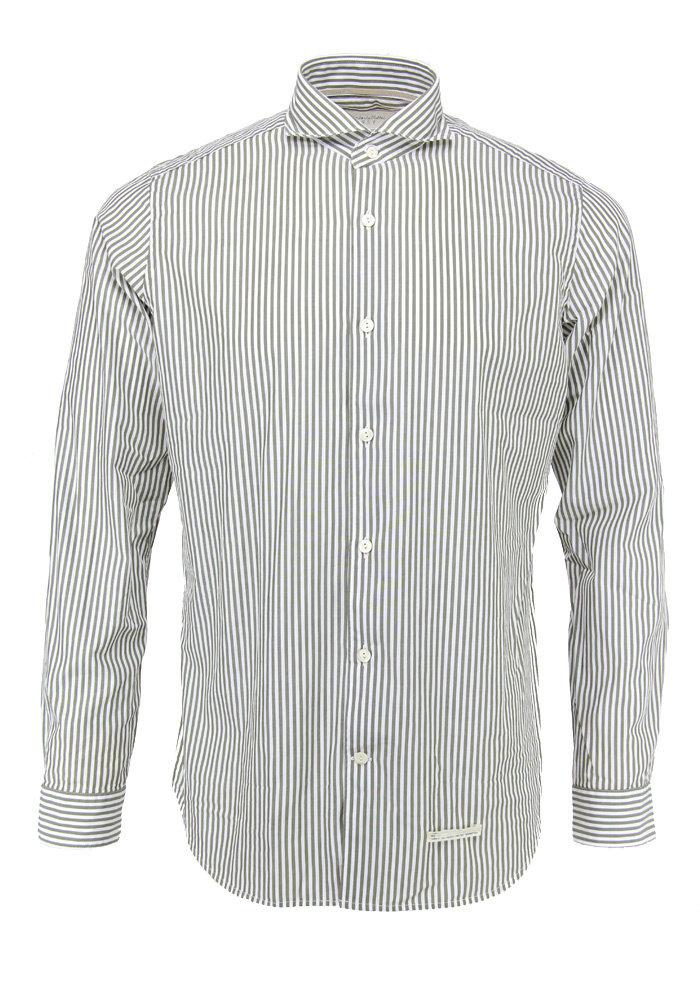 Tintoria Mattei Shirt White Army Striped