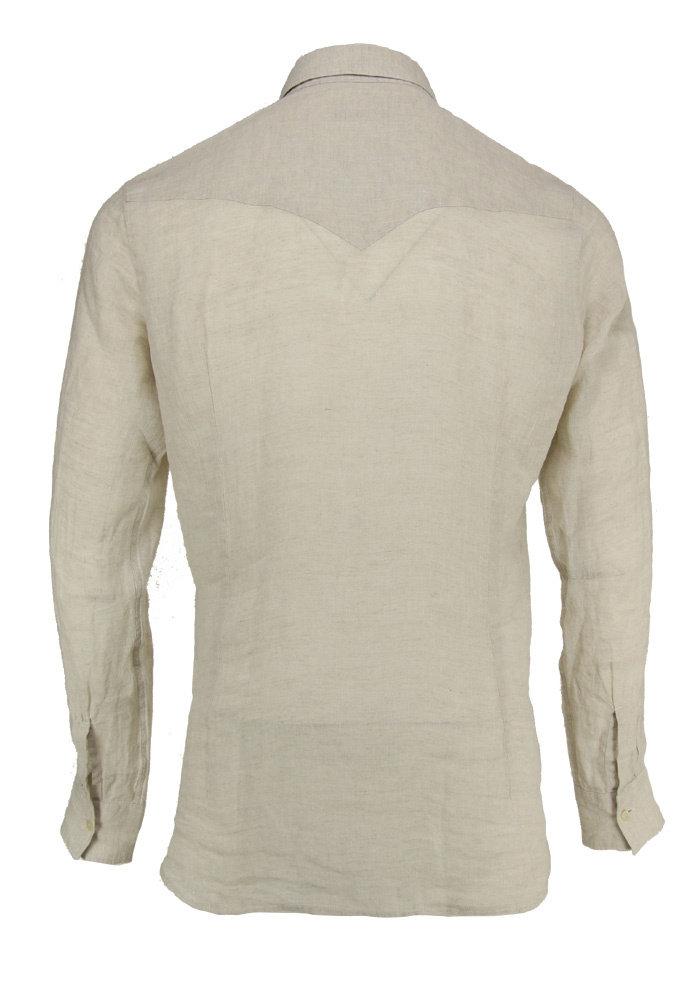Tintoria Mattei Shirt Summer Tuxedo Beige