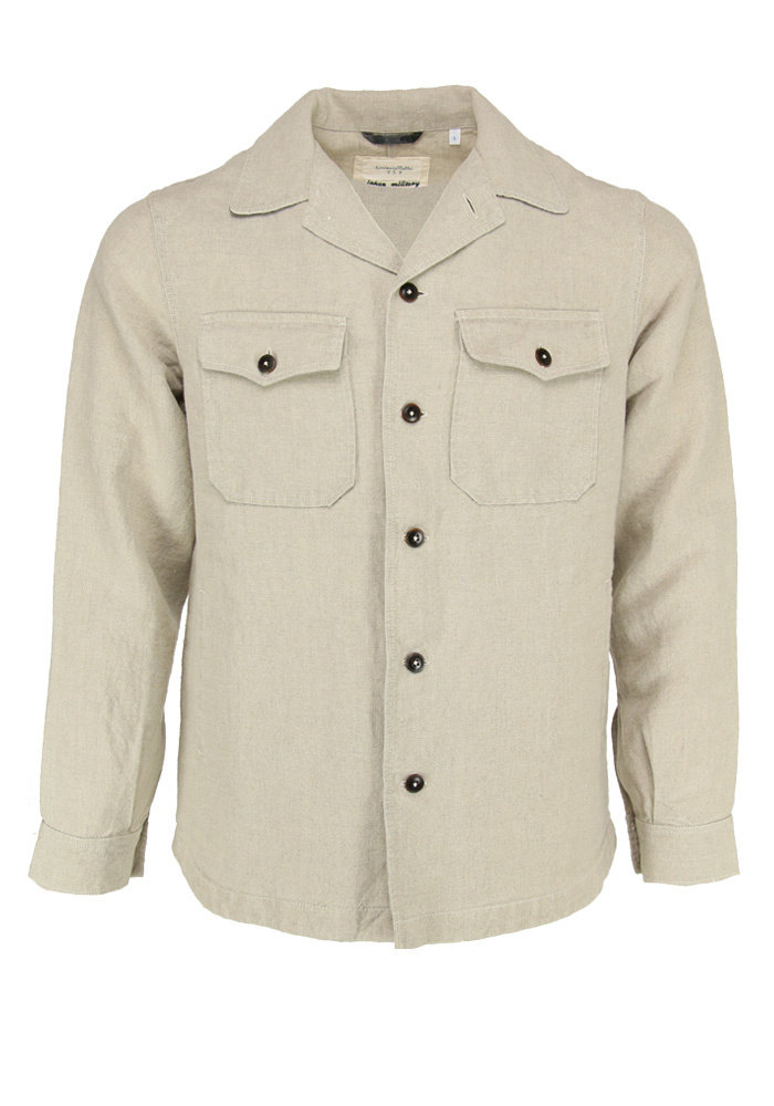 Tintoria Mattei Shirt Japanese Military Cotton Olive