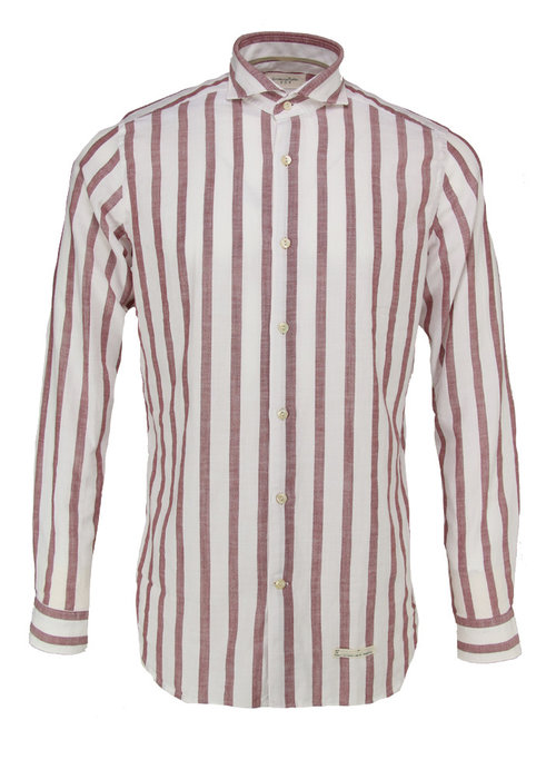 Tintoria Mattei Tintoria Mattei Shirt White/Red Striped