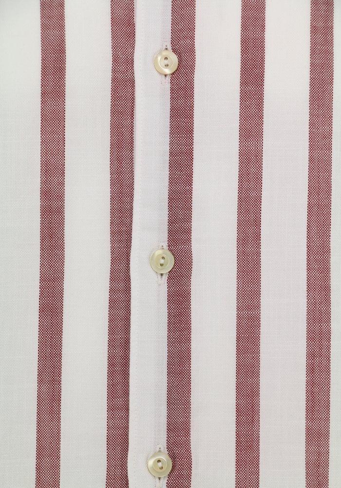Tintoria Mattei Shirt White/Red Striped