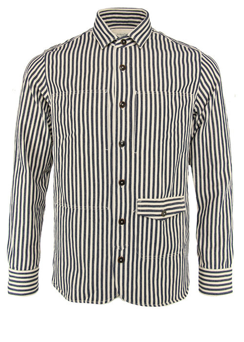 Tintoria Mattei Tintoria Mattei Shirt Striped Japanese Military Cotton