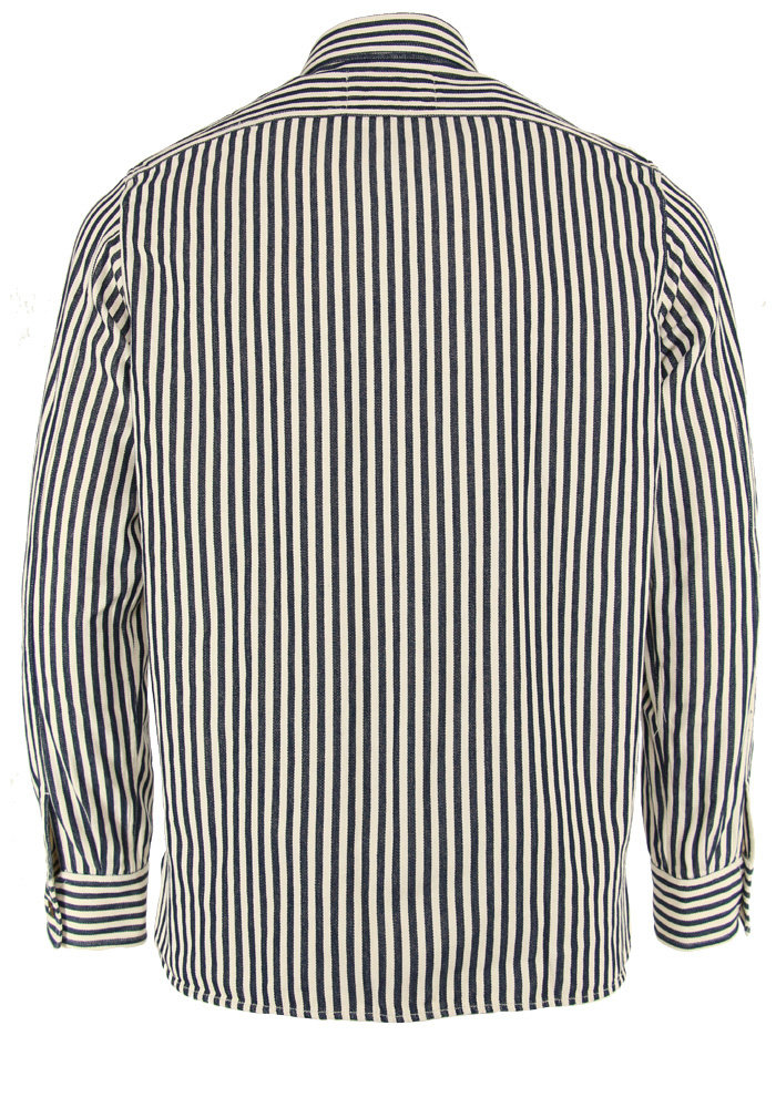Tintoria Mattei Shirt Striped Japanese Military Cotton