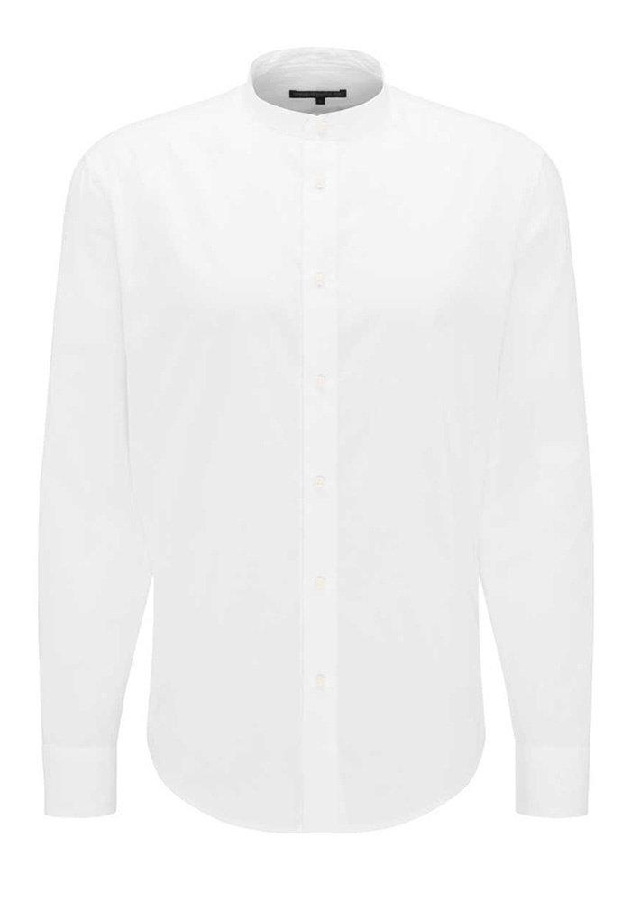 Drykorn Mao-Kraag Overhemd Tarok Wit