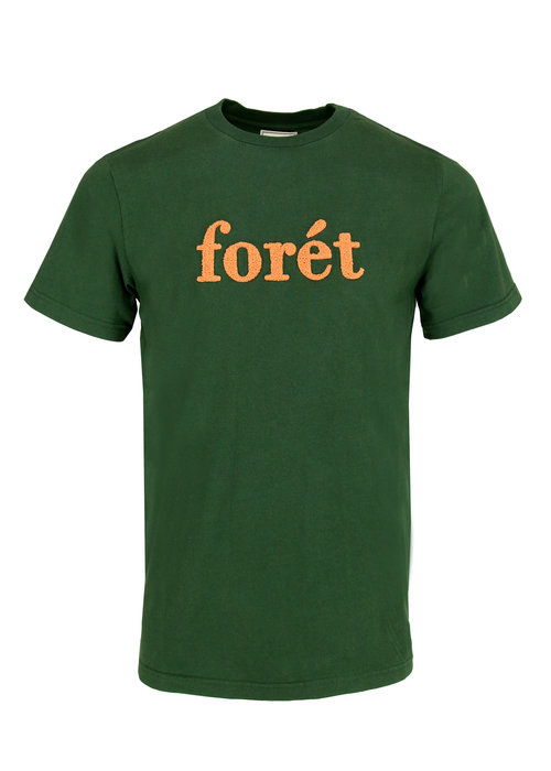 Forét Forét T-Shirt Log Dark Green