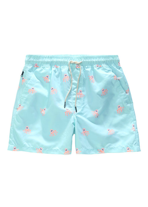 OAS OAS Swim Short Octopus Light Blue