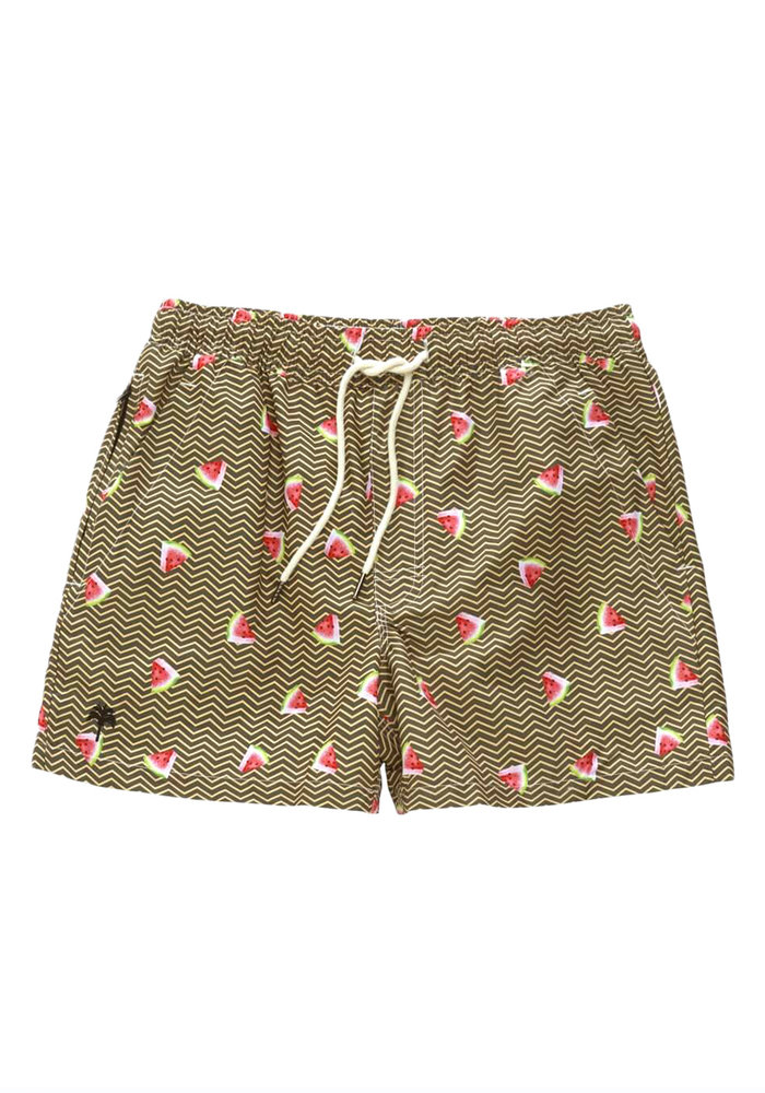 OAS Swim Short Zigzag Melon