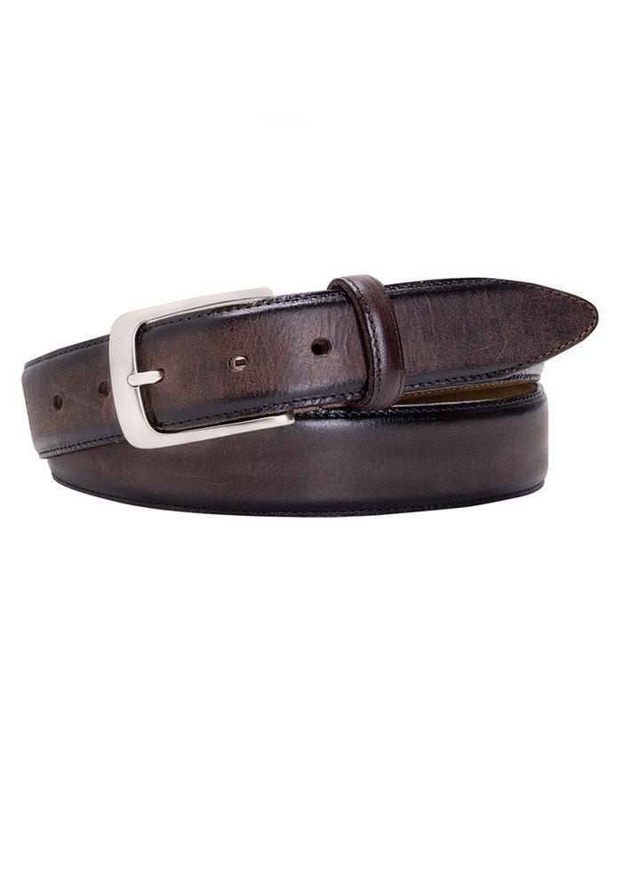 Profuomo Belt Leather Dark Brown