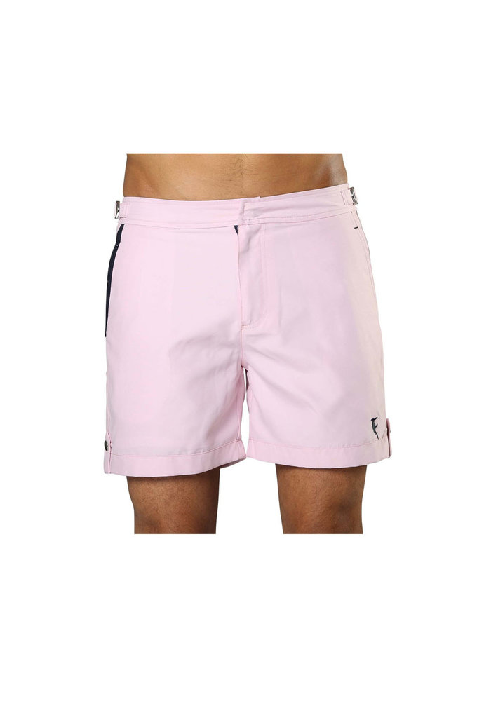 Sanwin Beachwear Swim Shorts Tampa Solid Flamingo Pink