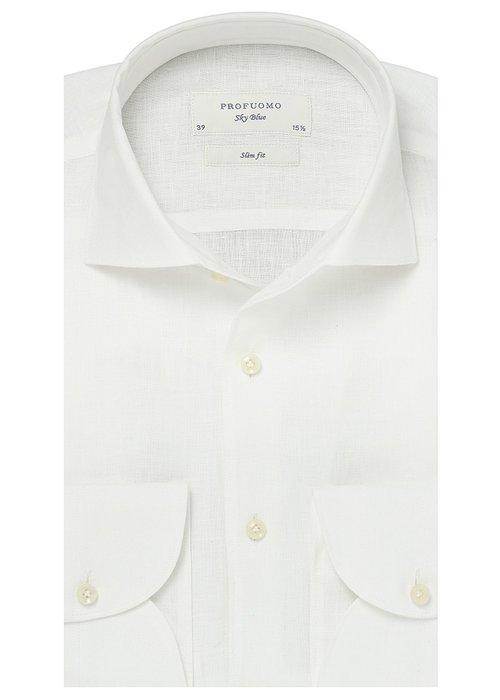 Profuomo Profuomo Shirt Linnen White