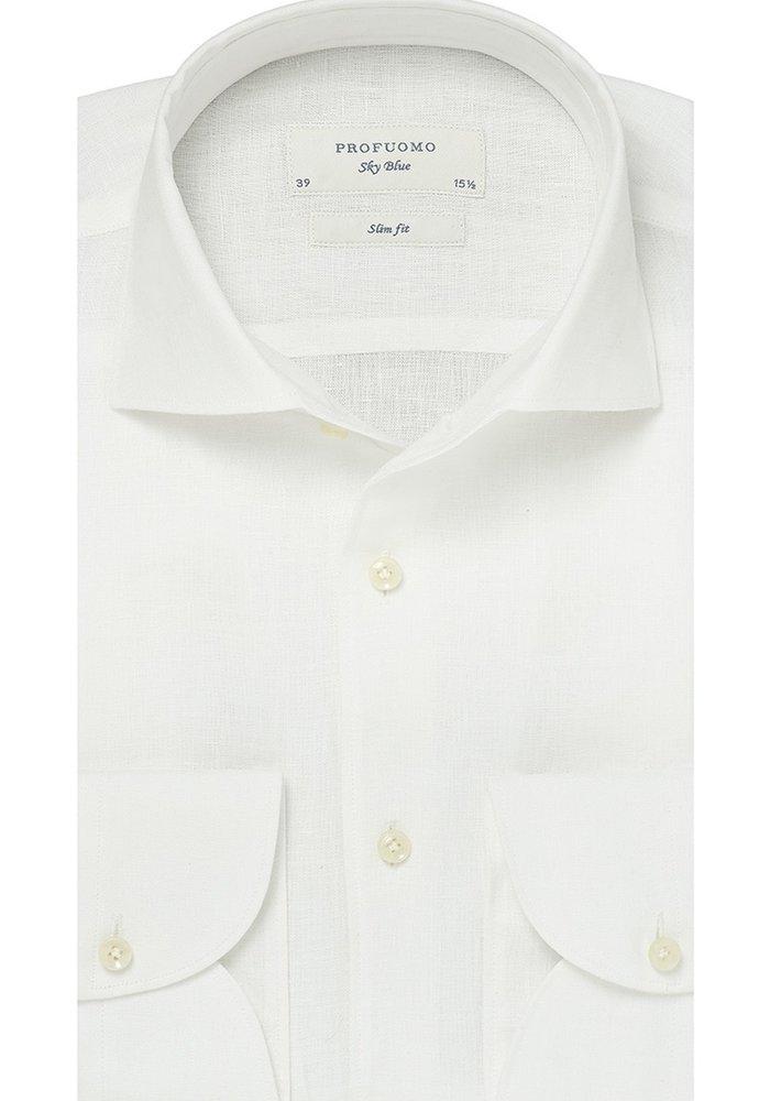 Profuomo Shirt Linnen White