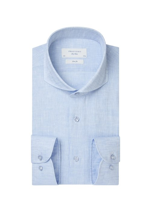 Profuomo Profumo Shirt Linnen Light Blue